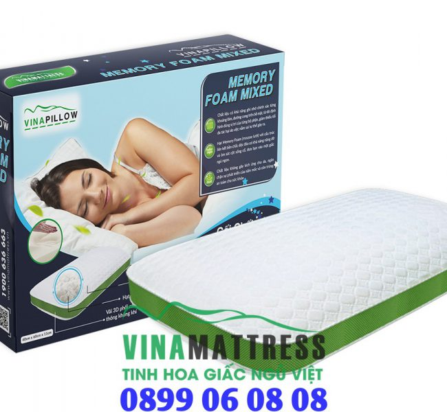 Gối Vinapillow Memory Foam Mixed